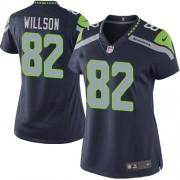 NFL Luke Willson Seattle Seahawks Women's Limited Team Color Home Nike Jersey - Navy Blue