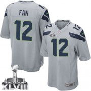 NFL 12th Fan Seattle Seahawks Youth Limited Alternate Super Bowl XLVIII Nike Jersey - Grey