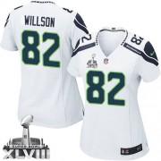 NFL Luke Willson Seattle Seahawks Women's Limited Road Super Bowl XLVIII Nike Jersey - White
