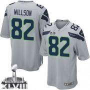 NFL Luke Willson Seattle Seahawks Youth Elite Alternate Super Bowl XLVIII Nike Jersey - Grey