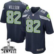NFL Luke Willson Seattle Seahawks Youth Elite Team Color Home Super Bowl XLVIII Nike Jersey - Navy Blue