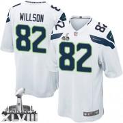 NFL Luke Willson Seattle Seahawks Youth Elite Road Super Bowl XLVIII Nike Jersey - White