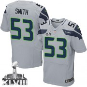NFL Malcolm Smith Seattle Seahawks Elite Alternate Super Bowl XLVIII Nike Jersey - Grey