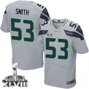 NFL Malcolm Smith Seattle Seahawks Elite Alternate Super Bowl XLVIII Nike Jersey - Grey