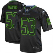 NFL Malcolm Smith Seattle Seahawks Elite Nike Jersey - Lights Out Black