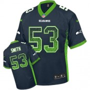 NFL Malcolm Smith Seattle Seahawks Elite Drift Fashion Nike Jersey - Navy Blue