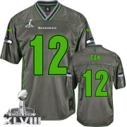NFL 12th Fan Seattle Seahawks Youth Limited Vapor Super Bowl XLVIII Nike Jersey - Grey