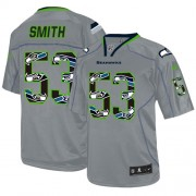 NFL Malcolm Smith Seattle Seahawks Elite New Nike Jersey - Lights Out Grey