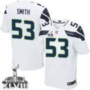 NFL Malcolm Smith Seattle Seahawks Elite Road Super Bowl XLVIII Nike Jersey - White