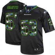 NFL Malcolm Smith Seattle Seahawks Game Nike Jersey - New Lights Out Black