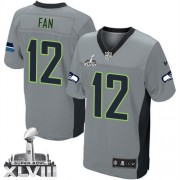 NFL 12th Fan Seattle Seahawks Elite Super Bowl XLVIII Nike Jersey - Grey Shadow