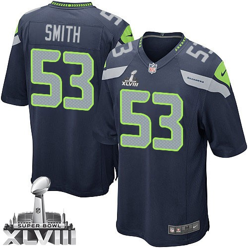 e1986ef1 NFL Malcolm Smith Seattle Seahawks Youth Limited Team Color Home Super Bowl  XLVIII Nike Jersey - Navy Blue
