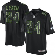NFL Marshawn Lynch Seattle Seahawks Elite Nike Jersey - Black Impact