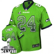 NFL Marshawn Lynch Seattle Seahawks Elite Drift Fashion Super Bowl XLVIII Nike Jersey - Green