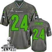 NFL Marshawn Lynch Seattle Seahawks Elite Vapor Super Bowl XLVIII Nike Jersey - Grey