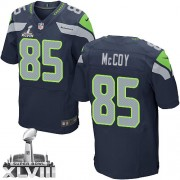 NFL Anthony McCoy Seattle Seahawks Elite Team Color Home Super Bowl XLVIII Nike Jersey - Navy Blue