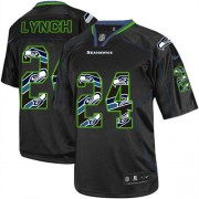 NFL Marshawn Lynch Seattle Seahawks Elite Nike Jersey - New Lights Out Black