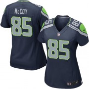 NFL Anthony McCoy Seattle Seahawks Women's Game Team Color Home Nike Jersey - Navy Blue