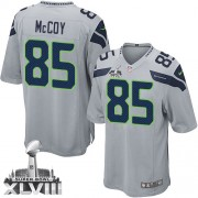 NFL Anthony McCoy Seattle Seahawks Youth Elite Alternate Super Bowl XLVIII Nike Jersey - Grey