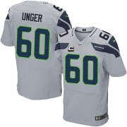 NFL Max Unger Seattle Seahawks Elite Alternate C Patch Nike Jersey - Grey