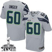 NFL Max Unger Seattle Seahawks Elite Alternate Super Bowl XLVIII Nike Jersey - Grey