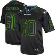 NFL Max Unger Seattle Seahawks Elite Nike Jersey - Lights Out Black
