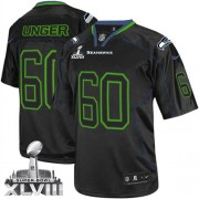 NFL Max Unger Seattle Seahawks Elite Super Bowl XLVIII Nike Jersey - Lights Out Black