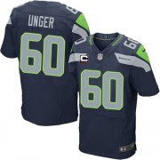 NFL Max Unger Seattle Seahawks Elite Team Color Home C Patch Nike Jersey - Navy Blue