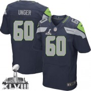 NFL Max Unger Seattle Seahawks Elite Team Color Home Super Bowl XLVIII Nike Jersey - Navy Blue