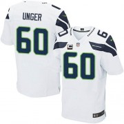 NFL Max Unger Seattle Seahawks Elite Road C Patch Nike Jersey - White