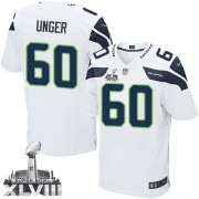 NFL Max Unger Seattle Seahawks Elite Road Super Bowl XLVIII Nike Jersey - White