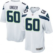 NFL Max Unger Seattle Seahawks Game Road Nike Jersey - White