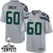 NFL Max Unger Seattle Seahawks Limited Alternate Super Bowl XLVIII Nike Jersey - Grey