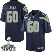 NFL Max Unger Seattle Seahawks Limited Team Color Home Super Bowl XLVIII Nike Jersey - Navy Blue