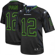 NFL 12th Fan Seattle Seahawks Elite Nike Jersey - Lights Out Black