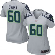 NFL Max Unger Seattle Seahawks Women's Elite Alternate Nike Jersey - Grey