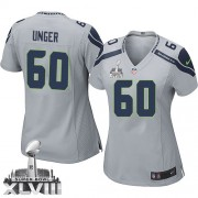 NFL Max Unger Seattle Seahawks Women's Elite Alternate Super Bowl XLVIII Nike Jersey - Grey