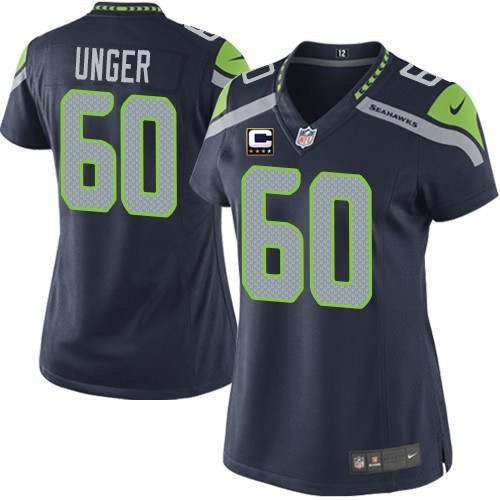 c18ce94f7 NFL Max Unger Seattle Seahawks Women's Elite Team Color Home C Patch Nike  Jersey - Navy Blue