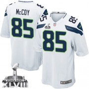 NFL Anthony McCoy Seattle Seahawks Youth Elite Road Super Bowl XLVIII Nike Jersey - White