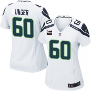 NFL Max Unger Seattle Seahawks Women's Elite Road C Patch Nike Jersey - White