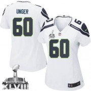 NFL Max Unger Seattle Seahawks Women's Elite Road Super Bowl XLVIII Nike Jersey - White
