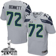 NFL Michael Bennett Seattle Seahawks Elite Alternate Super Bowl XLVIII Nike Jersey - Grey