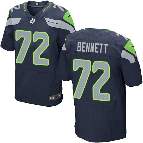 81282e5d8ad NFL Michael Bennett Seattle Seahawks Elite Team Color Home Nike Jersey -  Navy Blue