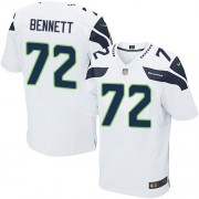 NFL Michael Bennett Seattle Seahawks Elite Road Nike Jersey - White
