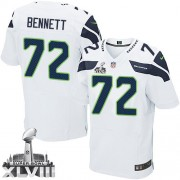 NFL Michael Bennett Seattle Seahawks Elite Road Super Bowl XLVIII Nike Jersey - White