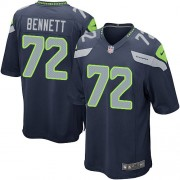 NFL Michael Bennett Seattle Seahawks Game Team Color Home Nike Jersey - Navy Blue