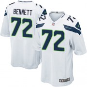 NFL Michael Bennett Seattle Seahawks Game Road Nike Jersey - White