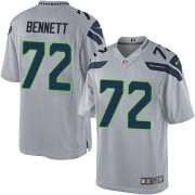 NFL Michael Bennett Seattle Seahawks Limited Alternate Nike Jersey - Grey