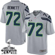 NFL Michael Bennett Seattle Seahawks Limited Alternate Super Bowl XLVIII Nike Jersey - Grey