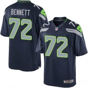 NFL Michael Bennett Seattle Seahawks Limited Team Color Home Nike Jersey - Navy Blue
